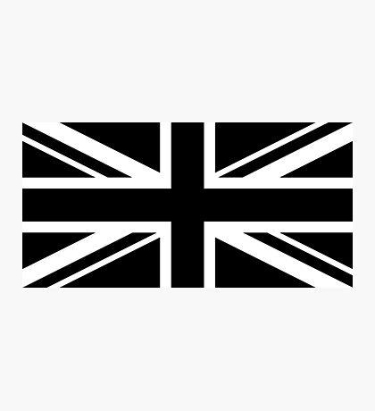 Black and White UK Flag Photographic Print