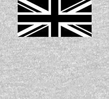 Black and White UK Flag T-Shirt