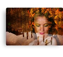 The Lady of lake Canvas Print
