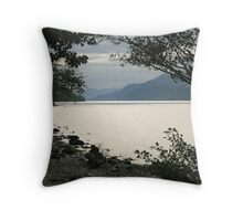 Loch Ness Dreaming Throw Pillow