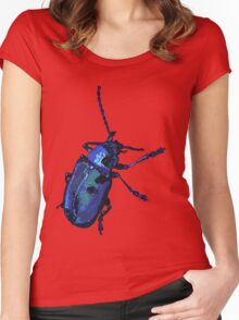 Water Beetle Women's Fitted Scoop T-Shirt