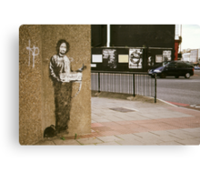 Banksy @ Archway Canvas Print