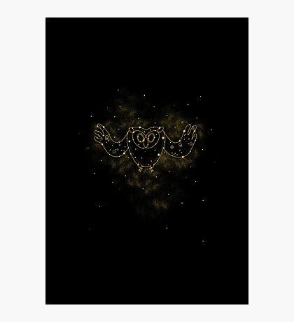 Cosmic Owl Photographic Print
