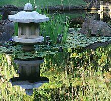 Reflections in a Japanese Garden by AnnetteK