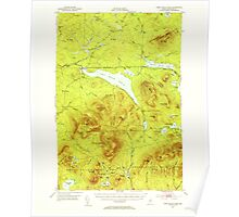 Maine USGS Historical Map First Roach Pond 460394 1952 62500 Poster
