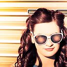 Face of a retro beauty model in cool accessories by Ryan Jorgensen