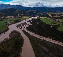Braided River, South Island New Zealand by Mark Hill