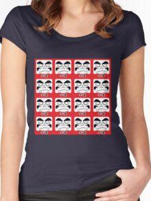 Daruma Tee - Multitasking Squares Women's Fitted Scoop T-Shirt