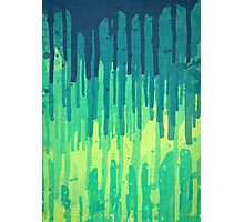 Green Grunge Color Splatter Graffiti Backstreet Wall Background  Photographic Print