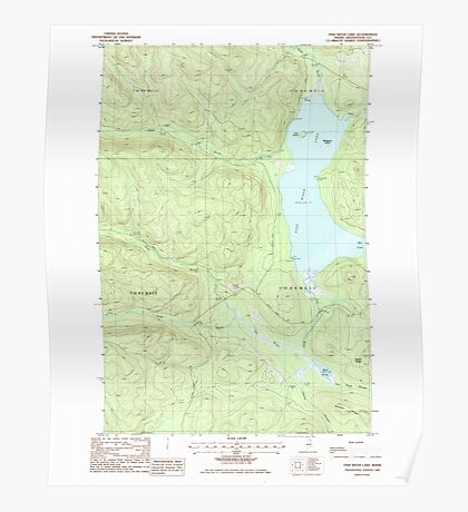 Maine USGS Historical Map Fish River Lake 105137 1985 24000 Poster