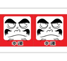 Daruma Tee - Square Row Sticker