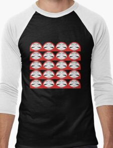 Daruma Tee - Multitasking Simple Men's Baseball ¾ T-Shirt