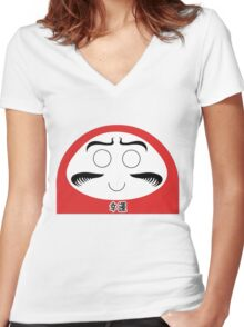 Daruma Tee - Simple Women's Fitted V-Neck T-Shirt