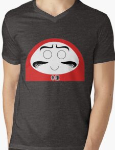 Daruma Tee - Simple Mens V-Neck T-Shirt