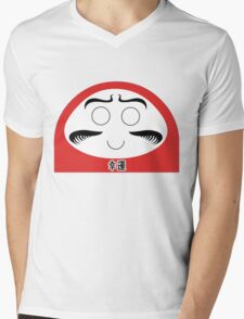Daruma Tee - Simple Mens V-Neck T-Shirt