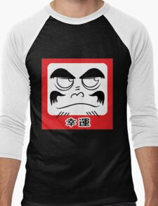 Daruma Tee - Square Men's Baseball ¾ T-Shirt
