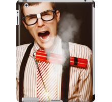 Vintage Male Business Dork Under Explosive Stress iPad Case/Skin