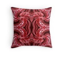 Red Swirled Throw Pillow