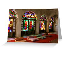 Colours in Jodhpur Palace Greeting Card