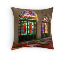 Colours in Jodhpur Palace Throw Pillow