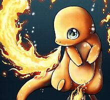 charmander's fire  by michelledraws