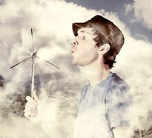 Alternative energy man with wind power solution by Ryan Jorgensen