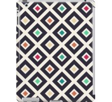 Modern Trendy Geometric Patter in Fresh Vintage Coffee Style Colors iPad Case/Skin