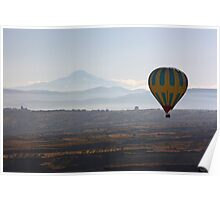 Erciyes Mountain and baloon Poster