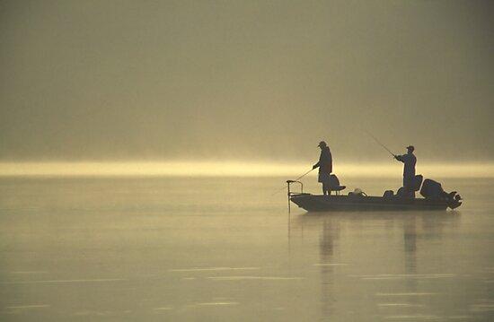 Friends Fishing by Michael Mill