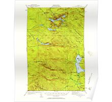 Maine USGS Historical Map Fish River Lake 460398 1931 62500 Poster