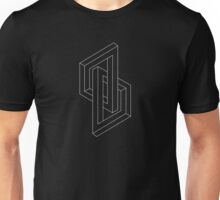 Optical illusion - Impossible Figure -  Balck & White Pattern Unisex T-Shirt