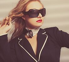 Luxury fashion girl in exclusive sunglasses by Ryan Jorgensen