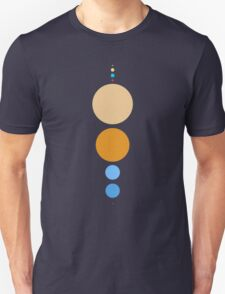 Planets To Scale (vertical) T-Shirt