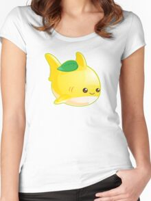 Cute Pun Lemon Shark Women's Fitted Scoop T-Shirt