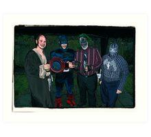Super Heroes at play! Art Print