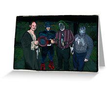 Super Heroes at play! Greeting Card