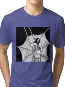 lady with spider Tri-blend T-Shirt