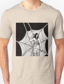 lady with spider Unisex T-Shirt