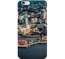 Wellington Water front from the air in a filmy look iPhone Case/Skin