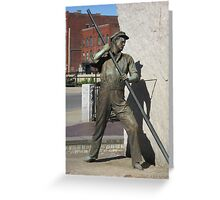 Worker Statue Greeting Card