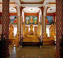 Wat Chalong - Interior by Dave Lloyd