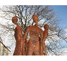 Slovenian Wire Statues Photographic Print