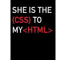 The CSS to my HTML Photographic Print