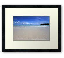White Sand Beach, Great Barrier Reef, Cape York, Australia Framed Print
