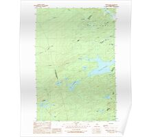 Maine USGS Historical Map Fisher Ponds 105138 1989 24000 Poster