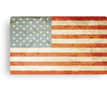 Grunge American flag Canvas Print
