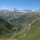 Switchbacks of Grimsel and Furka Passes, Switzerland by grubb1980