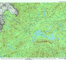 Maine USGS Historical Map Flagstaff Lake 807917 1994 100000 by wetdryvac