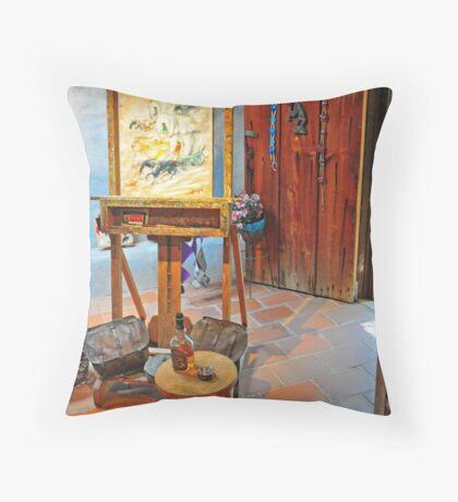 DeGrazia, Gallery In The Sun Throw Pillow
