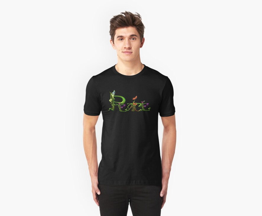 Personalized Name T-shirts- REQUESTED: PEACE by Lisa  Weber